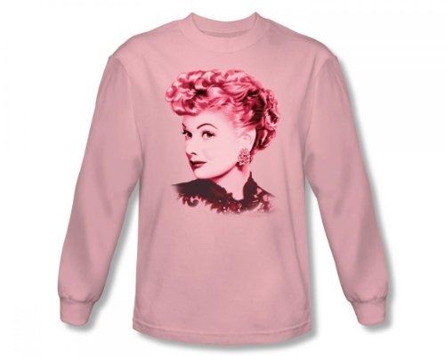 I Love Lucy - Adulte Belle manches longues T-shirt en rose, X-Large, Pink