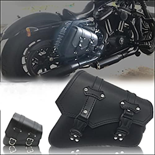 NLJY Bolsa De Sillín De Motocicleta, Bolsa De Sillín Lateral De Motocicleta Mediana, Pancarta De Scooter Bolsa De Sillín De Motocicleta Harley Bolsa De Sillín De Tiro,Black