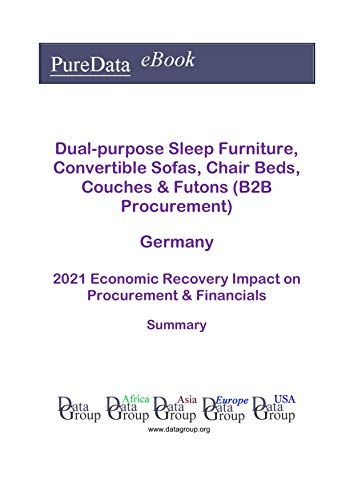 Dual-purpose Sleep Furniture, Convertible Sofas, Chair Beds, Couches & Futons (B2B Procurement) Germany Summary: 2021 Economic Recovery Impact on Revenues & Financials (English Edition)