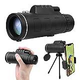 Vicloon Telescopio monocular, HD 12 x 50 Monocular Telescopio para Observación de Aves, Alta definición FMC BAK4 Impermeable Telescopio Monoculares con Soporte para Smartphone y Trípode para Caming