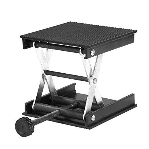 YEZIB Herramienta de carpintería Router de Aluminio Mesa elevadora de la Madera Grabado Laboratorio de elevación del Soporte (Negro) Accesorios de carpintería (Color : Black)
