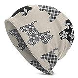 XCNGG Sombreros Gorras Skullies Gorros Knit Beanie Hat Cute Terrier Dog Skull Cap Skiing Lightweight Warm Beanie Hat for Adult