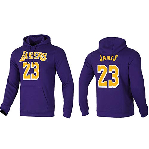 Sudaderas Con Capucha Para Hombres, Los Angeles Lakers # 23 LeBron James Uniformes De Baloncesto Otoño E Chaquetas De Invierno Sueces Con Capucha Sueltas Jerseys Casuales Jerseys De Manga Larga