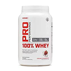 top rated GNC Pro Performance 100% Whey Protein Powder – Creamy Strawberries, 25 Servings, Health Support… 2021