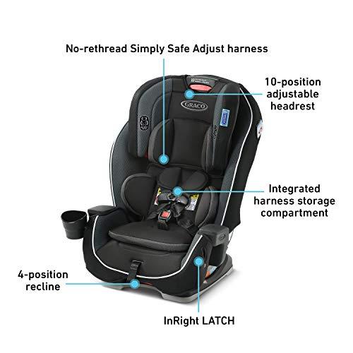 Graco Milestone 3 in 1 Car Seat | Infant to Toddler Car Seat, Gotham