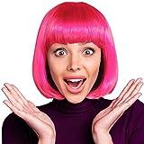 Hatstar Bob Perücke Wig Cabaret Pagenkopf Pagen Charleston Perücken für Karneval Fasching Motto Party (Bob pink)