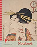 Notebook: Kiseru o motsu onna, Woman holding a pipe, Kitagawa, Utamaro (1753?-1806), Artist, Date Created: ca. 1793-ca.1804. Bijin go-mensô, Five ... of beauties, Japanese print, art of Japan