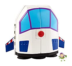  Disney Pixar Toy Story 4 Buzz Lightyear display, play and storage set in one toy  Star Command design outside, Star Adventures carnival playset with rides inside  Displays up to 15 mini figures  Folds up and becomes a carry case with handle for ...