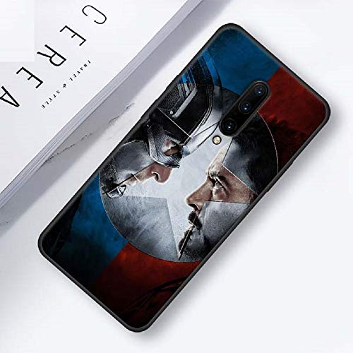 Marvel Superheroes The Avengers Silicone Phone Case for Oneplus 7 7 Pro 6 6T Soft Cover Shell for Oneplus 7 7Pro Black Case (4, Oneplus 7 Pro)