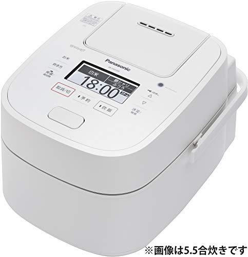 パナソニック 炊飯器 1升 スチーム&可変圧力IH式 Wおどり炊き ホワイト SR-VSX189-W