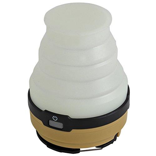DOD(ディーオーディー) LED ソーラー ポップアップ ランタン(電池別売り)