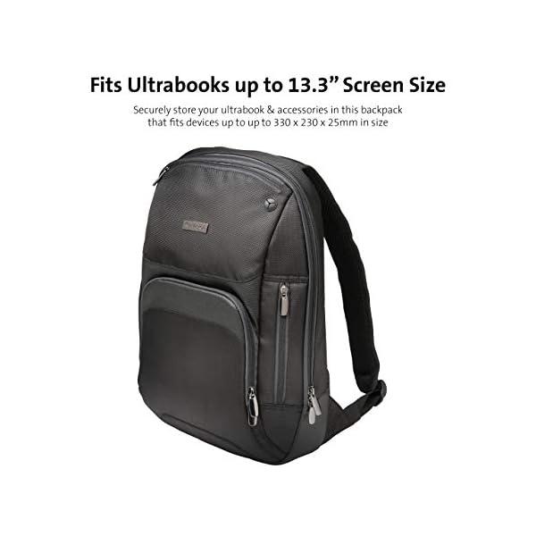 41pq8H060wL. SS600  - Kensington K62591EU - Mochila Triple Trek Optimizada para Ultrabook, Negro, 43 cm