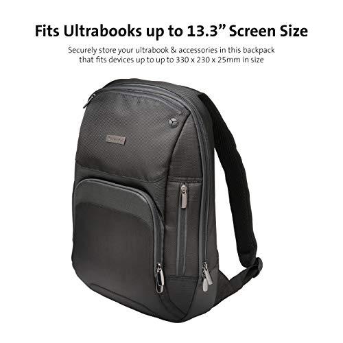 Kensington Triple Trek Slim Backpack for MacBooks, Chromebooks, Tablets & Ultrabooks up to 13-Inch-14-Inch (K62591AM), Black
