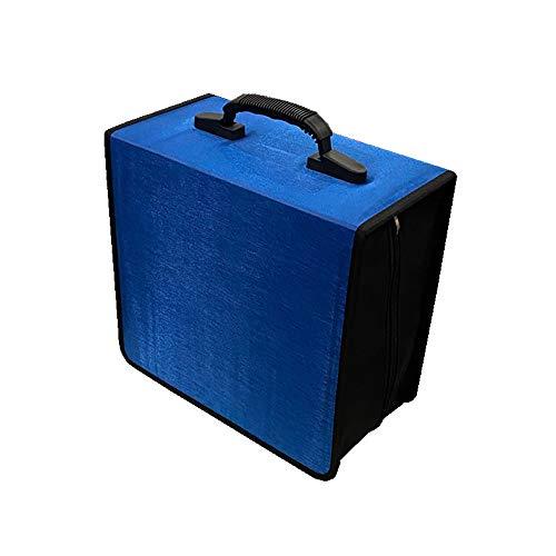 Penlonda CD/DVD Case Holder Organizer Wallet Sleeves Booklet Binder,Storage 400 Capacity Disc(Blue)