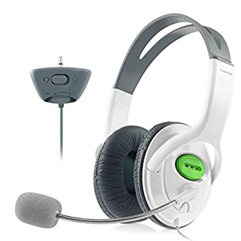 Insten Gaming Headset Headphone with Mic Compatible with Xbox 360 Wireless Controller White