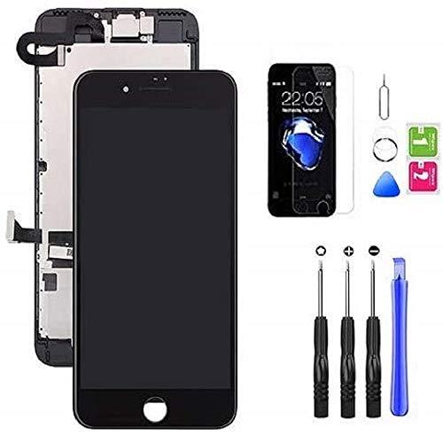 Hoonyer Display per iPhone 7 Plus Touch Screen LCD Digitizer Schermo Utensili Inclusi(con Fotocamera, Altoparlante, Sensore Flex) Nero