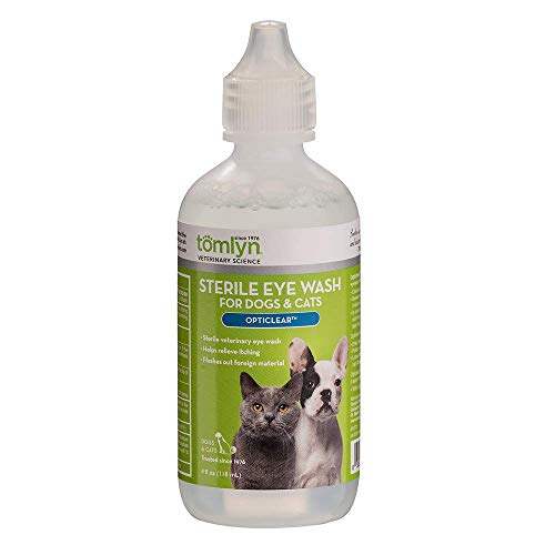 Tomlyn Sterile Eye Wash for Dogs and Cats, (Opticlear) 4oz
