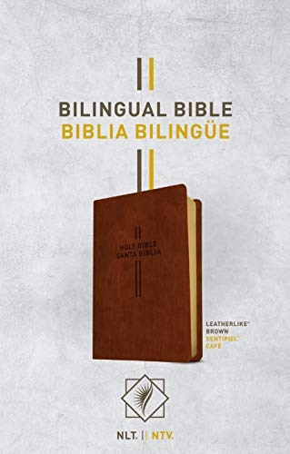 Bilingual Bible / Biblia bilingüe NLT/NTV (LeatherLike, Brown)