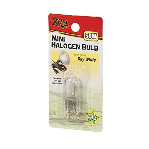 Zilla Light & Heat Mini Halogen Bulbs, Day White 50 Watts