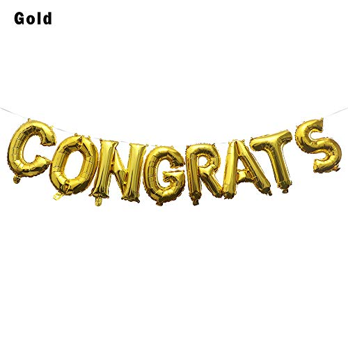 Lemon-Land 16inch Nieuwe Ceremonie Decor Banner Gifts Gifts Folie Ballonnen Gefeliciteerd Bal Opblaasbare Speelgoed Graduation Party Decoratie Goud