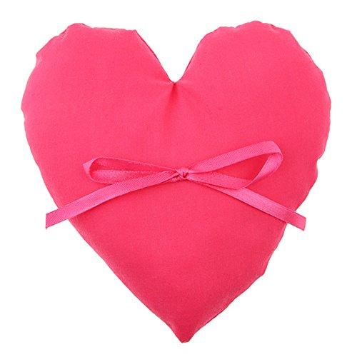 Für eine größere Ansicht klicken Sie auf das Bild Ringkissen Herz 14,5 x 17 cm Baumwolle - Cushon Hochteit Trauung (fuchsia)
