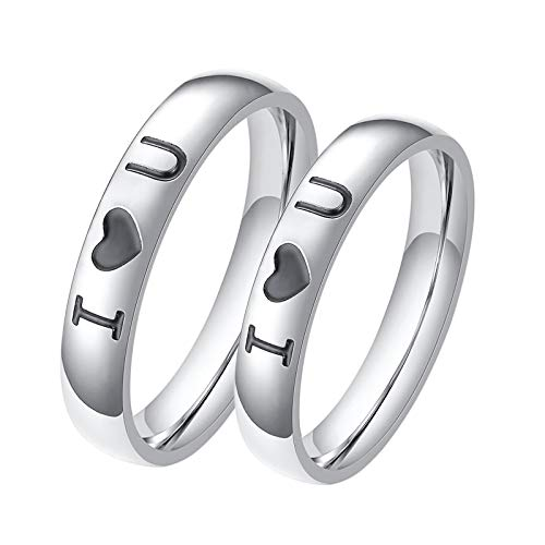 ANAZOZ 2 Stücke Paarringe 4mm Edelstahl Fingerring Flexibel 4mm Edelstahl Ringe Set Hochzeit Trauringe Partnerringe Eheringe Damen Größe 60 (19.1) & Herren...