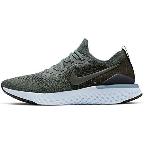 Nike Epic React Flyknit 2, Zapatillas de Atletismo para Hombre, Multicolor (Mineral Spruce/Mineral Spruce/Sequoia 000), 42 EU