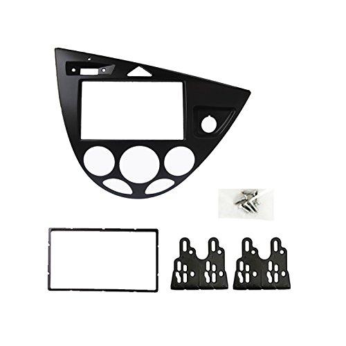 Feeldo Noir de voiture 2DIN radio Panneau Façade d'autoradio stéréo Refitting Dash Trim Kit