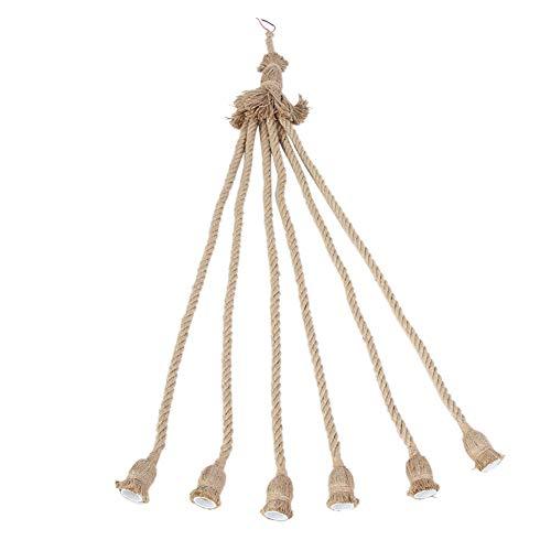Candelabro de Cuerda de cáñamo, Cuerda para portalámparas, fácil de Ahorrar, Natural, Especial, Respetuoso con el Medio Ambiente, Colgante de Bricolaje para restaurantes, Bares y cafeterías