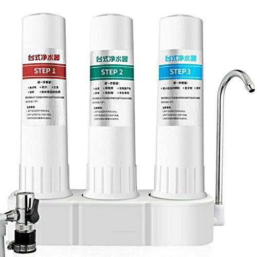 LYDIANZI Filtro De Agua De Encimera para El Hogar, Filtración De 1/2/3 Etapas, Purificador De Agua para Grifo De Cocina, Filtro De Cerámica, Máquina Percoladora, Tratamiento De Agua(Color:Level 3)