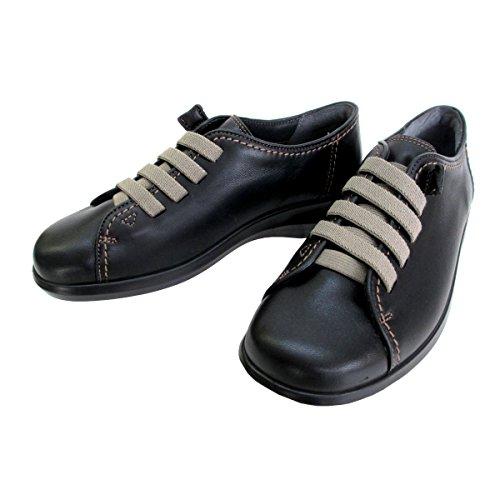 [アキレス] ソルボ SORBO 091 SRL0910 レディース ウオーキングシューズ コンフォートシューズ フラットヒール 通勤靴 仕事靴 日本製 (23.0cm, ブラック)