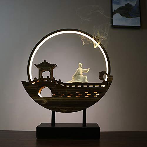 Tischlampe Wandlampe Kronleuchter dekorative Lampe Nachttischlampe an der Wand montierter Couchtisch Massivholz einzigartige warme Lampe Nachtlicht außerhalb des Pavillons (Qitengshanhe)