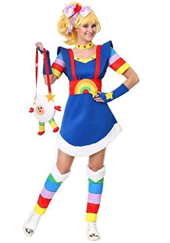 Adult Plus Size Rainbow Brite Costume Women's Rainbow Brite Costume 2X