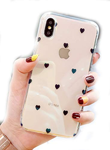 Korean Style Simple Girl Love for iPhone X/8 Mobile Phone Shell iphone7plus/6s Blu-ray Transparent Soft Tide