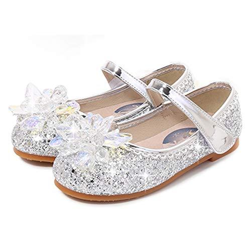 Fanessy Zapatos de Princesa para niñas Zapatos de Vestir para Banquetes de Boda Zapatos de Baile para niños de Tango Latino Fiesta de Carnaval de Halloween Cosplay de Lentejuelas Zapatos de Cr