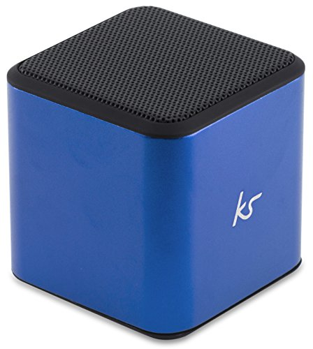 KitSound KSCUBBTBL - Altavoz portátil con Bluetooth (inalámbrico, Universal, con Toma de 3.5 mm Compatible con Smartphones, tabletas y Dispositivos MP3) Color Azul