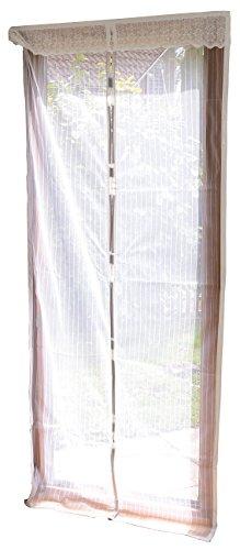 infactory Mückenvorhang: Selbstschließendes Fliegennetz für Türen, weiß (Fliegenvorhang Tür)