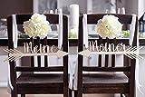 Hochzeitideal Stuhlschild Pfeile Hochzeit 'Meine & Meiner' Stuhlschilder Holz