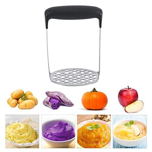 Machacador de Patatas, Trituradora de Patata de Acero Inoxidable, Prensa Patatas Fruta Prensa/Alimentación Infantil Colador Filas de Malla de 6 mm y 9 mm