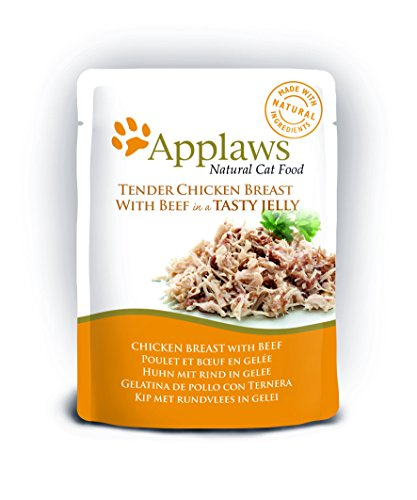 Applaws Cat pouch tuna wholemeat with mackerel in jelly, Beutel, 1er Pack ( 16 x 70 g)