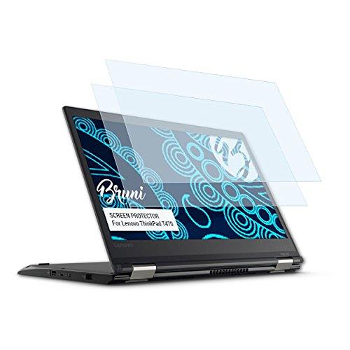 Bruni Schutzfolie kompatibel mit Lenovo ThinkPad T470 Folie, glasklare Bildschirmschutzfolie (2X)
