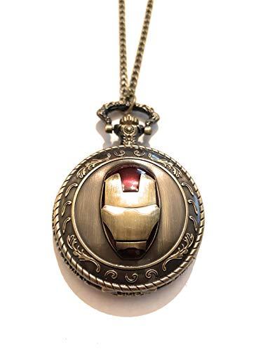 Giulyscreations Halsketting van metaal, niet vrij, Ispirato, Iron Man Tony Stark Supereroi Avengers Infinity War Endgame Thanos masker Fantasy Pop Cosplay