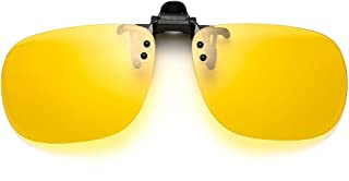 Night Driving Glasses Clip On Night Vision Glasses for Driving Anti Glare HD Polarized Lens