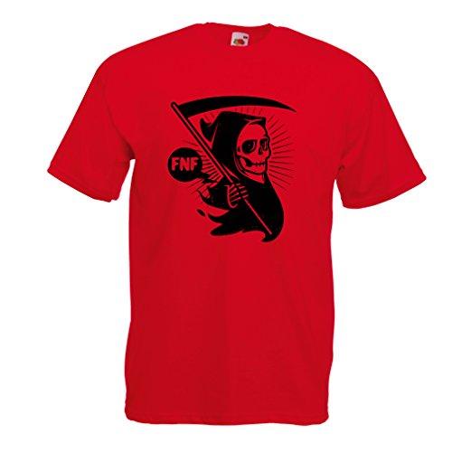 lepni.me Camisetas Hombre Muerte (Large Rojo Multicolor)