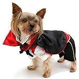 ranphy pequeño perro/gato vampiro disfraz de Halloween Monster capa mascota vacaciones ropa