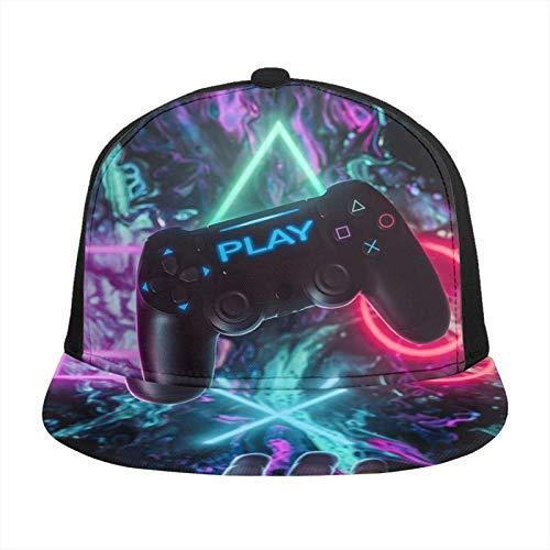 ZORIN Baseballkappe mit 3D-Flachschnappen, bunt, Videospiel-Controller, Spiele, Snapback, Sport, Trucker-Hüte, schwarz