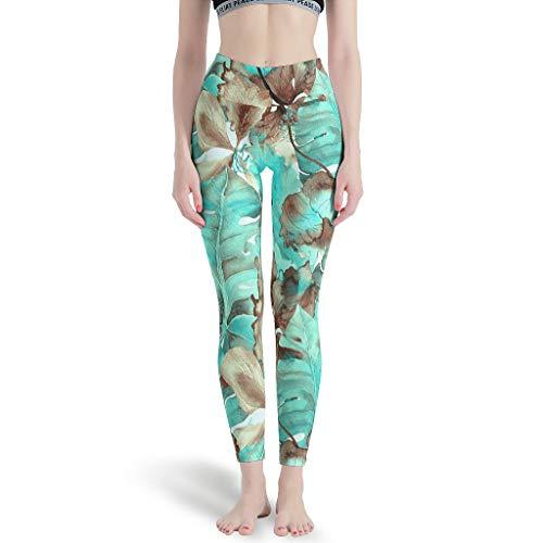 YOUYO Spark Pantalones de yoga Palm y Hibi-scus Acogedor Varios Diseos Coloridos - Pantalones de Yoga para Viajes