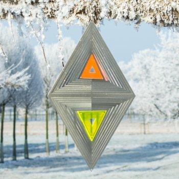 Acier inoxydable Carillon – Sun Dancer Mix Noël Multicolore – Unique Matériau Mix, lichtreflektierend – Dimensions : 23 x 40 cm – avec crochet avec roulement à billes vertébrale