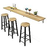 WENMENG2021 Barras de desayuno para cocinas montado en la pared Bar mostrador del hogar división plegable moderna comedor sala de estar multifuncional mesa de café (color: 130 x 40 x 2,5 cm)
