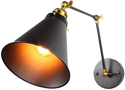 LERSS Lámpara de pared plegable mesa de noche, hierro doble sección de...